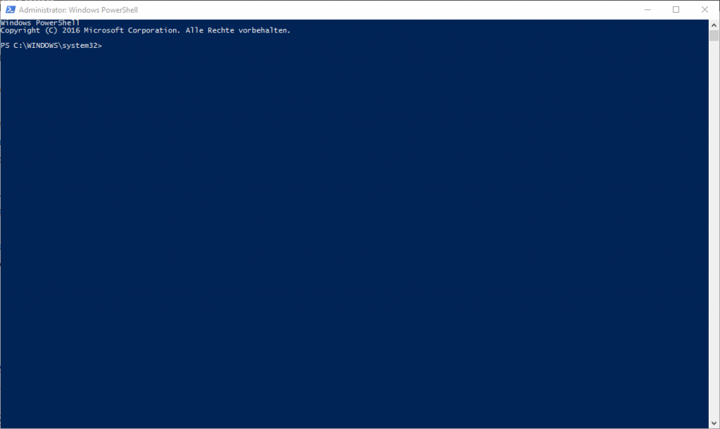 PowerShell nach dem Start